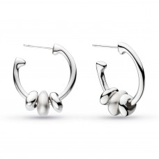 Kit Heath Silver Coast Tumble Hoop Earrings