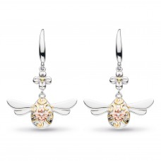 Kit Heath Silver And Gold Plate Blossom Flyte Queen Bee Drops