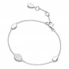 Kit Heath Silver Coast Pebble Glisten Cz Bracelet