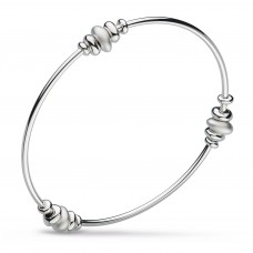 Kit Heath Silver Coast Tumble Bangle