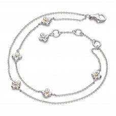 Kit Heath Silver And Gold Plate Blossom Flyte Honey Flower Bracelet