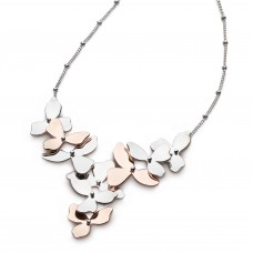 Kit Heath Silver And Gold Plate Blossom Petal Bloom Necklace