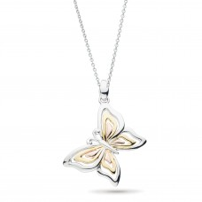 Kit Heath Silver And Gold Plate Blossom Flyte Butterfly Necklace