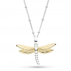 Kit Heath Silver And Gold Plate Blossom Flyte Dragonfly Necklace