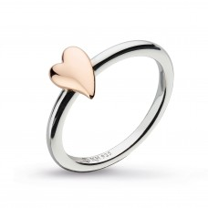 Kit Heath Silver Rose Gold Plate Kiss Blush Ring