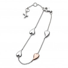 Kit Heath Silver Rose Gold Plate Kiss Blush Bracelet
