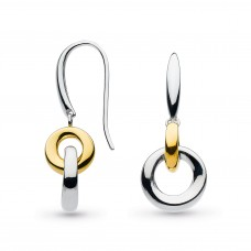 Kit Heath Silver And Yellow Gold Plate Double Bevel Cirque Drops