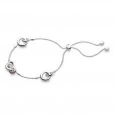Kit Heath Silver Bevel Cirque Link Station Bracelet