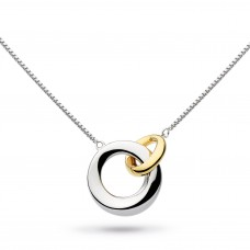 Kit Heath Silver And Yellow Gold Plate Bevel Cirque Link Necklace