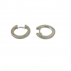 Silver LBJ Huggie Earrings
