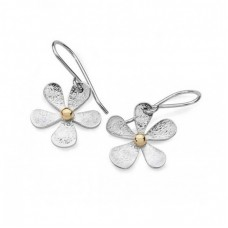 Linda Macdonald Silver Daisy Drop Earrings