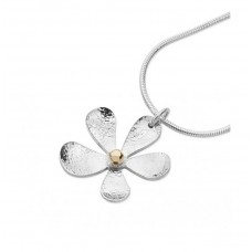 Linda Macdonald Silver Large Daisy Necklace