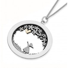 Linda Macdonald Silver Meadow With Girl Necklace