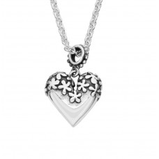 Linda Macdonald Silver Forever Heart Necklace