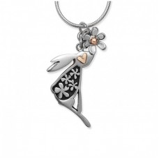 Linda Macdonald Silver Hare Necklace