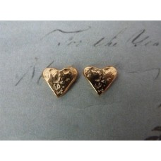 Marlene Hounam Gold Plated Heart Studs