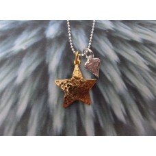 Marlene Hounam Gold Plate Heat & Star Necklace