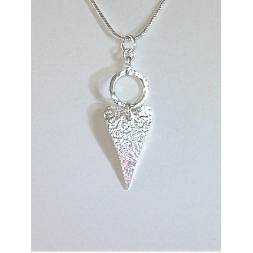 Marlene Hounam Silver Heart & Circle Necklace