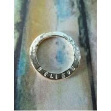 Marlene Hounam Silver Believe Sentiment Loop