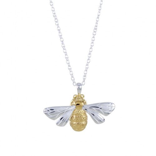 Reeves & Reeves Silver Queen Bee Necklace