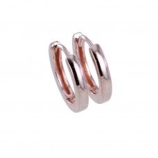 Reeves & Reeves Rose Gold Plate Sleepy Jean Hoop Earrings
