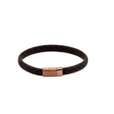 Unique Mens Black Plaited Leather Bracelet