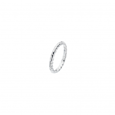 Virtue Silver Silver Rope Stacking Ring
