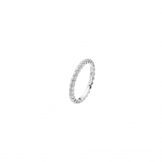 Virtue Silver Daisy Chain Stacking Ring