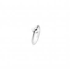 Virtue Silver Bumble Bee Stacking Ring