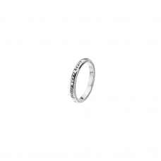 Virtue Silver Follow Your Heart Stacking Ring