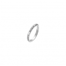 Virtue Silver Believe Stacking Ring
