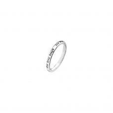 Virtue Silver Live Love Laugh Stacking Ring