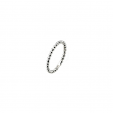 Virtue Silver Polka Stacking Ring