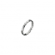 Virtue Silver Unbroken Hearts Stacking Ring