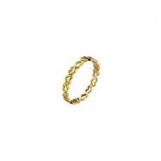 Virtue Yellow Gold Plate Juilet Stacking Ring