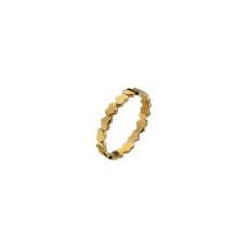 Virtue Yellow Gold Plate Unbroken Hearts Stacking Ring