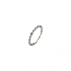 Virtue Silver Fairy Cz Stacking Ring