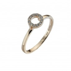 Virtue Rose Gold Plate Cz Always Stacking Ring