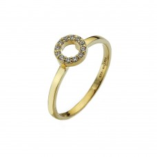 Virtue Yellow Gold Plate Cz Always Stacking Ring