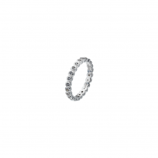 Virtue Silver Polka Dot Stacking Ring