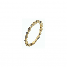 Virtue Gold Plate Cz Fairy Stacking Ring