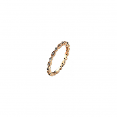 Virtue Rose Gold Plate Fairy Cz Stacking Ring