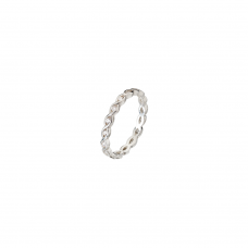 Virtue Silver Solarweave Cubic Zirconia Stacking Ring