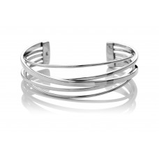 Carol Anne Silver Spun Spring Bangle