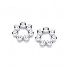 Carol Anne Silver CZ Circle of Life Studs