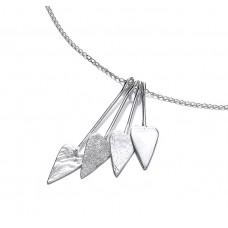 Carol Anne Silver Spear Hearts Necklace