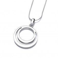 Carol Anne Silver Double Circle Pendant