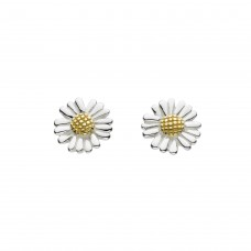 Dew Silver Gold Plate Daisy Stud Earrings