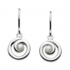 Dew Stu Freshwater Pearl Spiral Drop Earrings