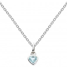 Dew Dro Dinky Small Blue Topaz Heart Pendant